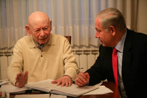 PM Binyamin Netanyahu with his father Benzion