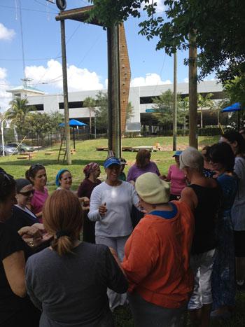 Women take part in Chai Lifeline/Jewish Women's Foundation of Broward respite program.