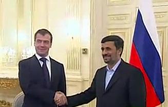 Russian President Medvedev and Iranian President Ahmadinejad