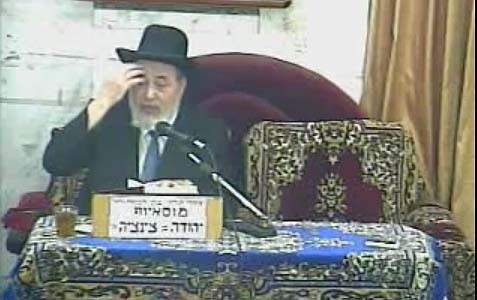 Chief Judge of the Jerusalem Rabbinical Court Rabbi Eliyahu Abergel.