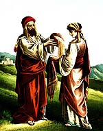 boaz gives wheat to ruth