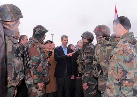 President Bashar al-Assad Visits Baba Amr Quarter in Homs.
