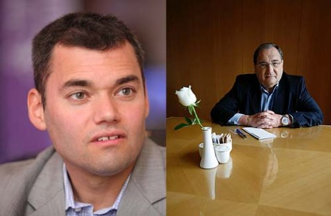 Peter Beinart (L), author of The Crisis of Zionism, and Abe Foxman (R), Director of the ADL