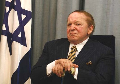 US billionaire businessman Sheldon Adelson.