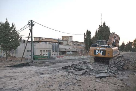 The new area where the Ulpana Neighborhood will be re-located according to Netanyahu's proposal. A ruling by the Supreme Court of Justice calls for the demolition of Ulpana before July 1.