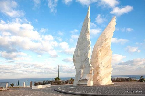 The brand-new Victory Monument in Netanya
