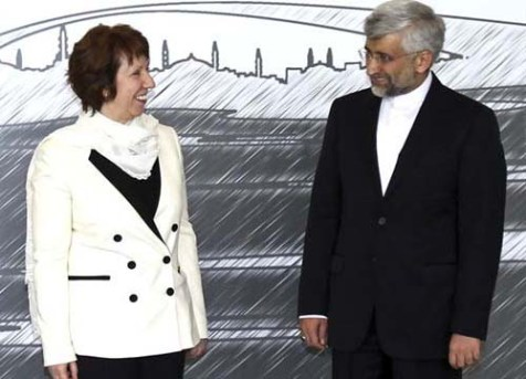 EU Foreign Policy Chief Catherine Ashton meeting with Iranian negotiator Saeed Jalili