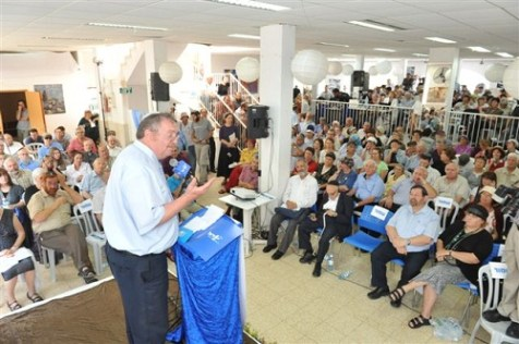 HaBayit HaYehudi Chairman Daniel Hershkowitz speaking at the Conference for the Application of Sovereignty over Judea and Samaria.