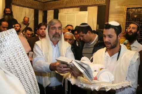 Circumcision of a Jewish baby boy