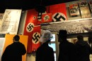 Ultra Orthodox men visiting the Yad Vashem Holocaust memorial museum in Jerusalem