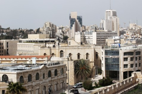 A view of west Jerusalem, seen from the Old City.
