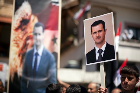 Demonstration in support of Syrian President Bashar Assad