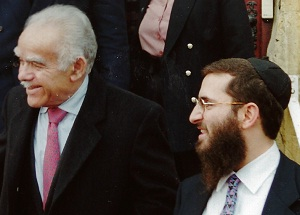 Former PM Yitzchak Shamir and Rabbi Shmuley Boteach