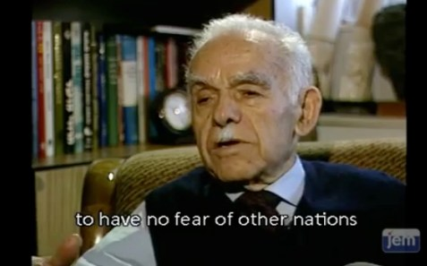 The late Yitzchak Shamir in an interview.