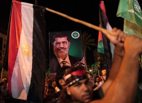Demonstrations in support of new Egyptian President Mohammed Morsi