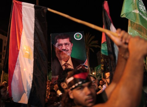 Demonstrations in support of new Egyptian President Mohammed Morsi