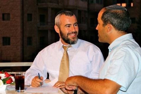 Yishai Fleisher and Aryeh King discussing Jerusalem