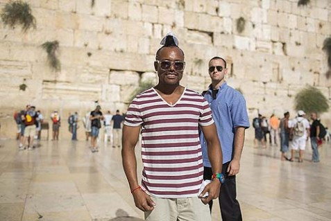 Black Eyed Pea at the Wailing Wall