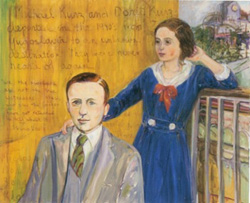 Dorrit and Michael Kurz (1990) 53 x 64 oil on linen by Diana Kurz