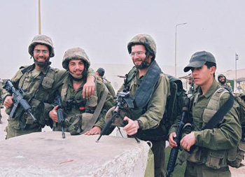 Soldiers of the Netzach Yehuda unit.