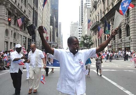 Sen. Malcolm Smith at the Puerto Rican Day Parade in Manhattan.