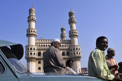 The Mosque of the Four Towers in Hyderabad, India