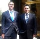 (L-R) Moshe and Avraham Tischler