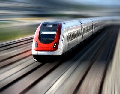 High-speed train (illustrative only)
