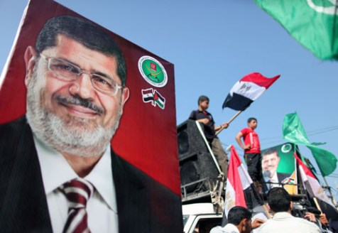 Photo: Hamas supporters in Gaza celebrate the Muslim Brotherhood's victory in Egyptian presidential elections.