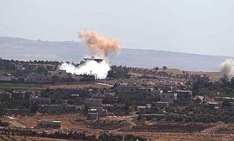 A rocket launched from Syria landed in northern Israel Thursday.