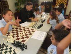 Children enjoying activities at Chabad Chayil.