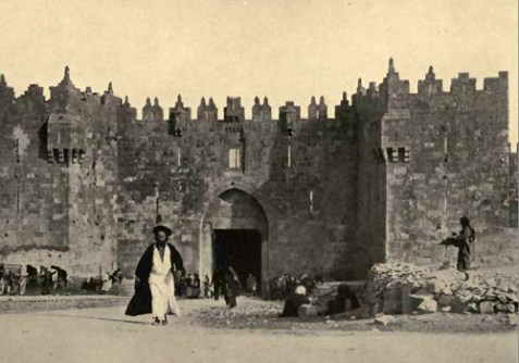 Damascus gate, Jerusalem, 1912.