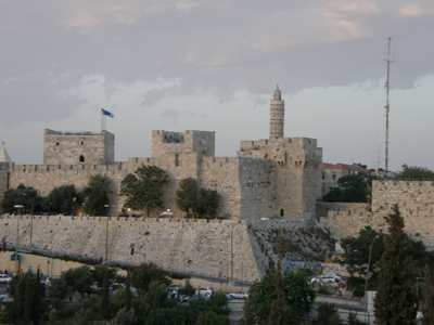 View of the Old City Walls from Yemin Moshe