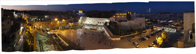 Western Wall Plaza at Night (9 ¾ x 40) digital print by Bill Aron