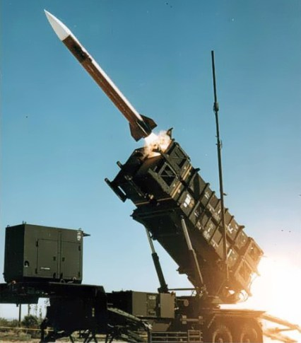 A patriot missile being fired. The U.S. has been sending patriot missile batteries to allies such as Israel and Poland but without the crews required to operate them.