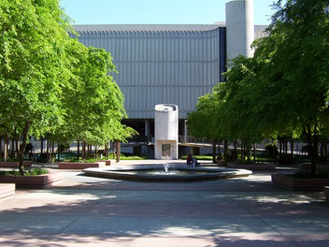 The Library Quad on the campus of California State University, Sacramento.