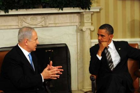 Netanyahu and Obama - a picture that won't be taken next month when Obama will boycott the Prime Minister.