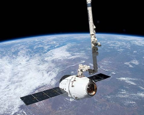 The SpaceX Dragon's launch was carried out under the terms of the Bush-era Commercial Orbital Transportation Services (COTS) program.