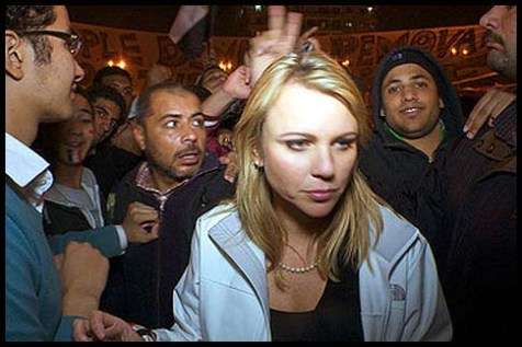 Lara Logan in Cairo