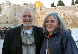 Alan Gross in Jerusalem with wife Judy.