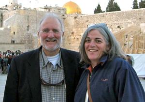 Alan Gross in Jerusalem with wife Judy.