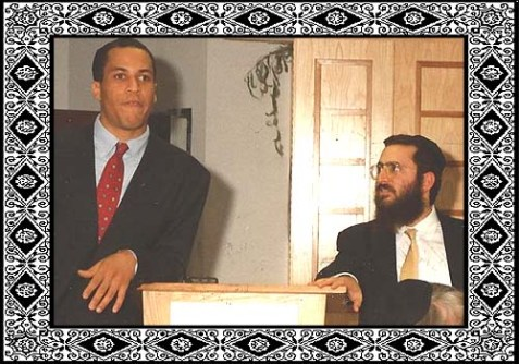 Cory Booker & Shmuley Boteach a few years back...
