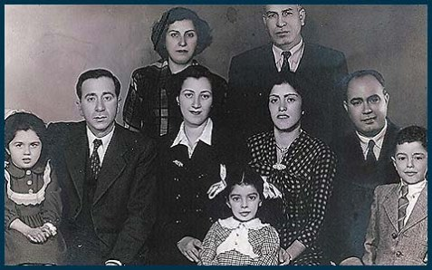 One of the Jews interviewed is Iraqi born Emile Cohen, seen here as a child [far right] in Iraq in 1950.