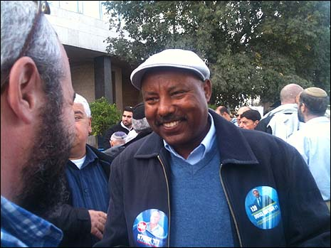 Ethiopian candidate Avraham Negusie