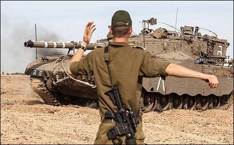 Israeli tanks have been deployed along Gaza border for an invasion on November 16, 2012.
