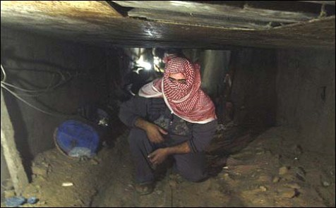 It&#039;s business as usual as Gazans repair the tunnels used to smuggle in the long-range rockets that hit Tel Aviv.