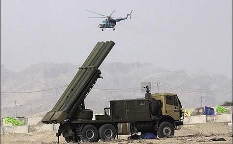 An Iranian Fajr-5 missile battery.