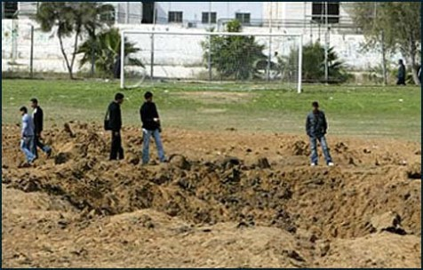 Gaza&#039;s main stadium was used as a rocket launching site.