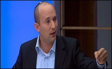 Beit Yehudi chairman Naftali Bennett on Channel 2