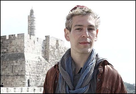 Matisyahu outside Jerusalem's Old City.